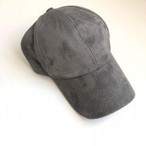 Nordstrom grey velvet like athleisure hat